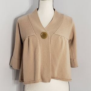 BANANA REPUBLIC snap button wool cropped sweater